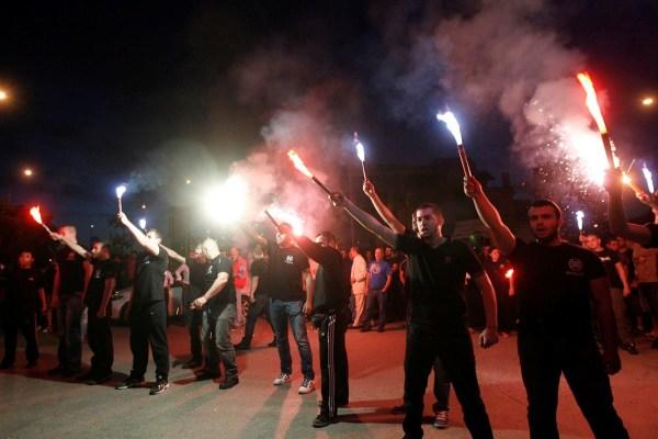greece-nazi fire