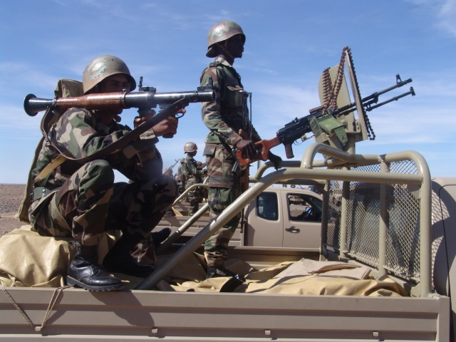 The Mauritanian army conduct a major counter-terrorism operation