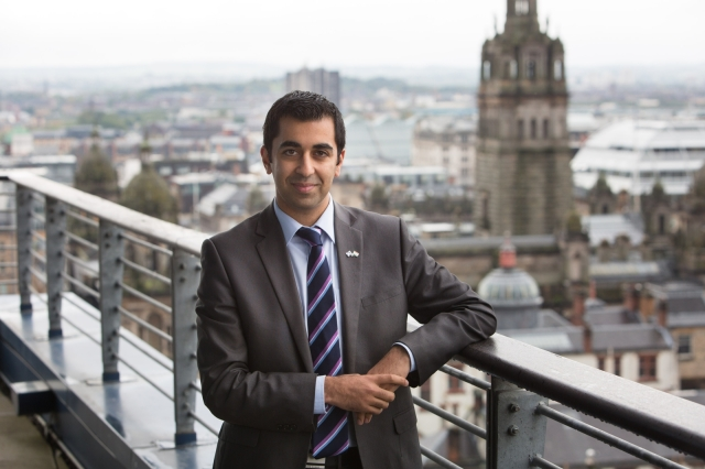 Hamza Yousaf, Minister for External Affairs and International Development visiting Strathclyde University prior to his visit to India later this month.